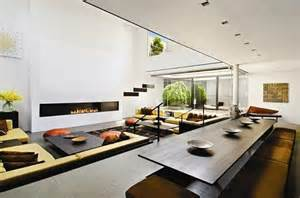 Modern Penthouses Designs Minimalist Penthouse With Double Height Living Room Digsdigs