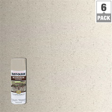 rust oleum american accents 12 oz gray textured spray paint 6 pack 7992830 the