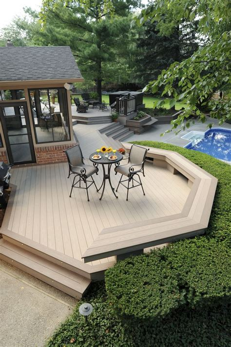 azek bench azek harvest collection decking in brownstone with sedona