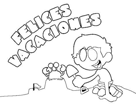 imagenes de vacaciones de verano para niños dibujo de felices vacaciones para colorear dibujos net
