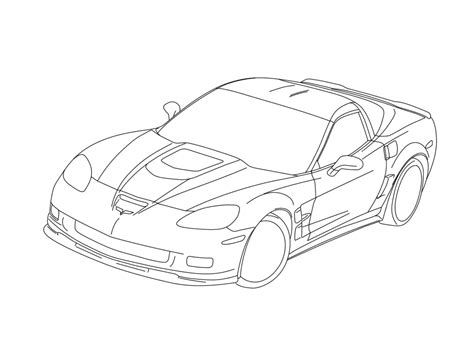 free cars corvettes coloring pages