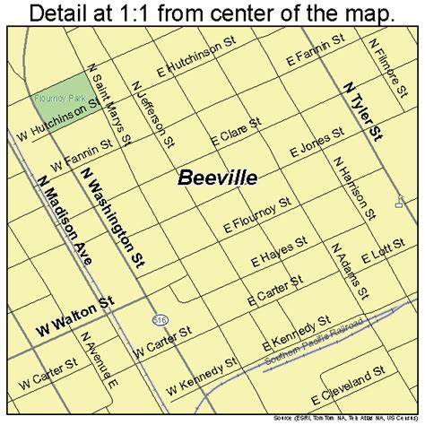 map of beeville texas beeville texas map 4807192