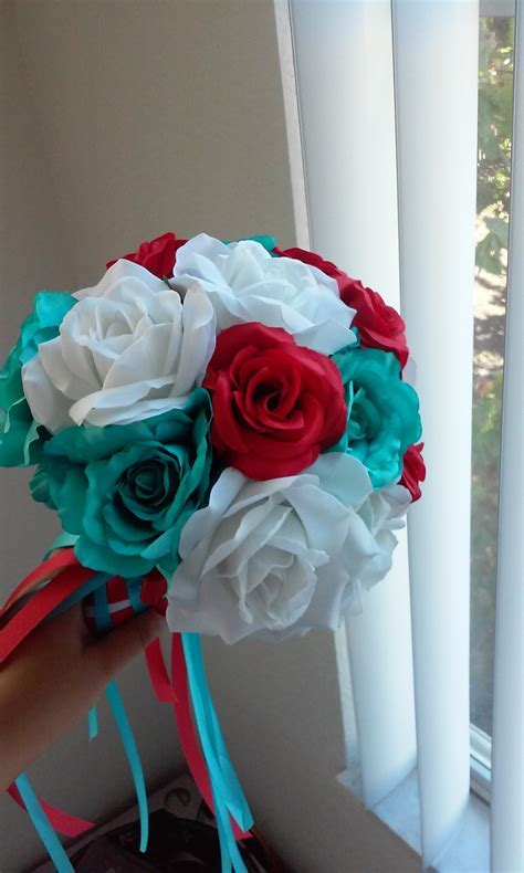 Turquoise and Red Wedding decorations!   Weddingbee