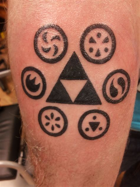 zelda triforce tattoo on sheik skyward sword and legends