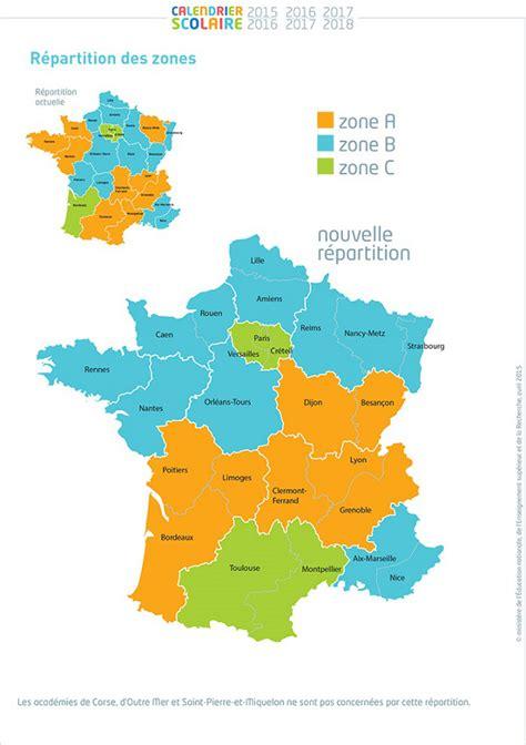 Calendrier 2016 Vacances Scolaires Zone A Carte Des Vacances Scolaires Zones Et Calendrier 2014 2015