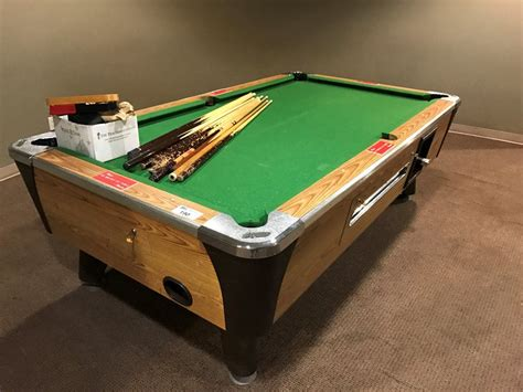 coin op pool table dynamo coin op pool table with cues and accessories