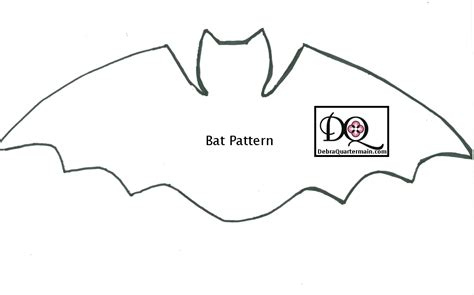 bat template printable bat pattern cut outs pictures to pin on