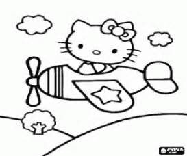 hello kitty airplane coloring page hello kitty coloring pages printable games 2