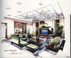 Interior Design Styles Bedroom Sketch 现代风格客厅手绘效果图 土巴兔装修效果图