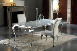 Modern Kitchen Tables And Chairs Modern Louis Inspired White Glass Dining Table And Chair Set Modern Dining Tables