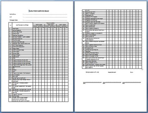 download buku supervisi kelas format microsofot word contoh format supervisi kelas dan instrumen supervisi guru
