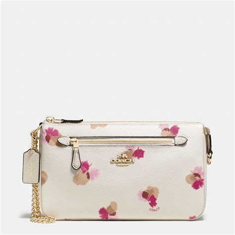 Coach Flowery coach nolita wristlet 24 in floral print coated canvas lyst