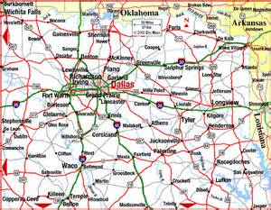 Dallas Tx Map by Road Map Of Northeast Texas Dallas Dallas Texas
