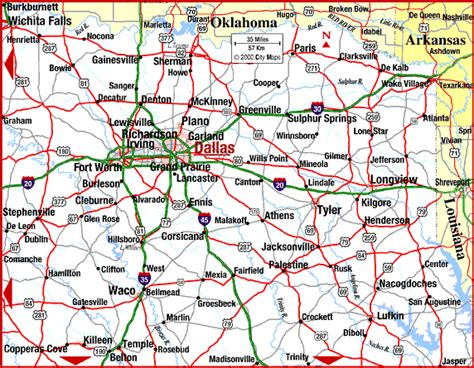 road map of dallas texas texas city map county cities and state pictures