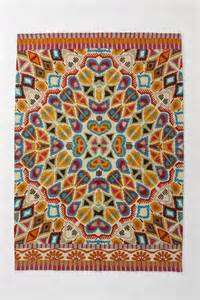 flutter pattern rug multi from anthropologie