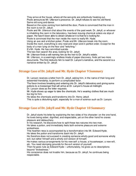jekyll and hyde chapter 7 themes robert louis stevenson strange case of dr jekyll and mr hyde
