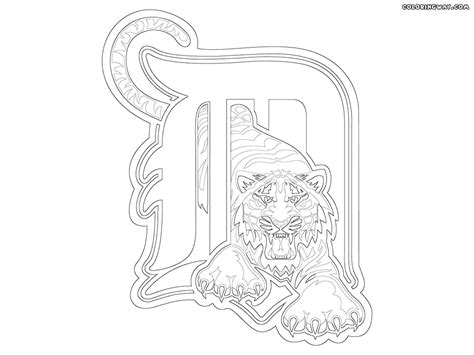 detroit tigers mascot coloring pages coloring pages