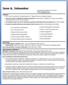 substitute teacher resume duties career life pinterest substitute teacher resume sle