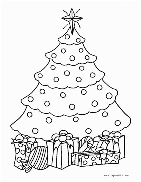 christmas tree coloring page crayon action coloring pages