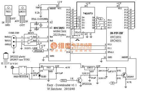ic programmer circuit diagram at89c2051 diy programmer basic circuit