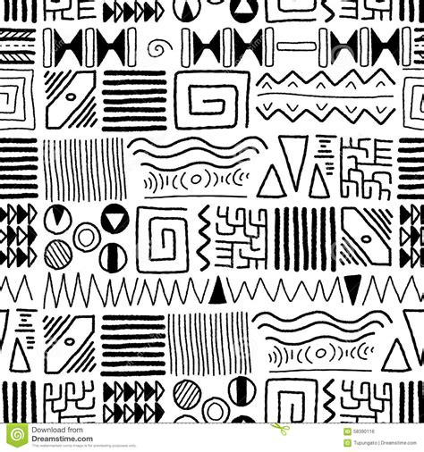 african patterns black and white vector african pattern stock vector illustration of tradition