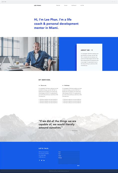 11 Cutting Edge Wix Templates For Any Kind Of Website Wix Business Website Template