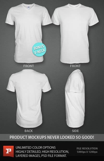 v neck template psd ghosted t shirt design template psd with bonus v neck t