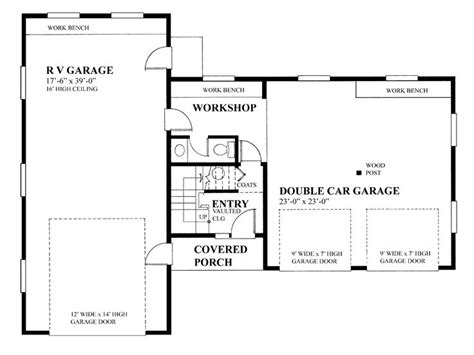 rv garage floor plans rv garage plans rv garage plan with future apartment