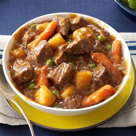 best beef for stew cooker beef vegetable stew recipe taste of home