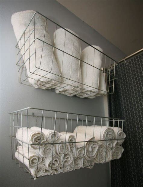 diy towel storage s home an exercise in diy house tours