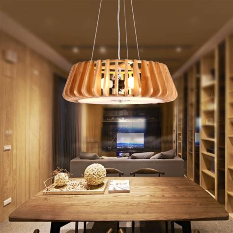 modern hanging ls dining room oak arylic wood l living room dining room lighting