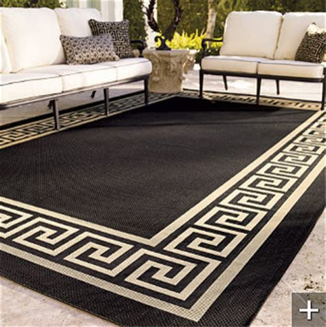 Greek Key Outdoor Rug by Frontgate   Mediterranean