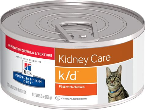 kidney care food hill s prescription diet k d kidney care with chicken canned cat food 5 5 oz of