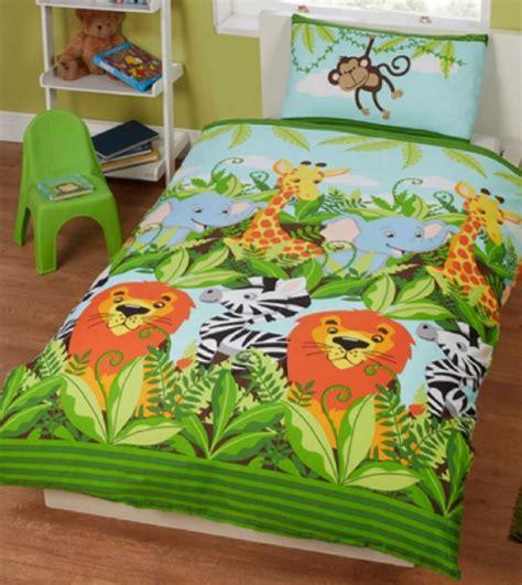 dekbedovertrek ledikant jungle 1 persoons dekbedovertrek jungle vrienden blije kids