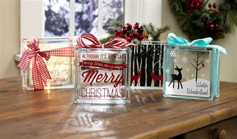 christmas ideas for glass blocks craft warehouse