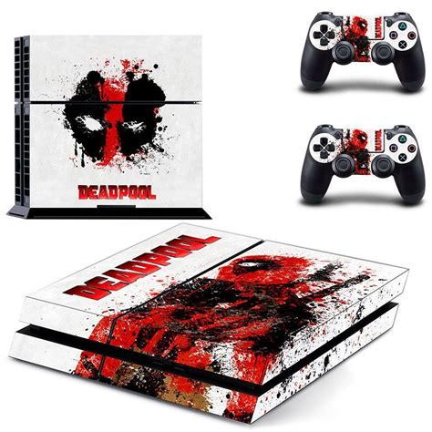 Ds4 Skin Deadpool By Stiker Onlen deadpool inspired ps4 console and controller decal