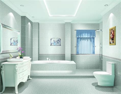 Light Blue Bathroom Lighting Design » Modern Home Design
