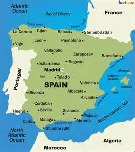Spain On Map by Spain Map Blank Political Spain Map With Cities