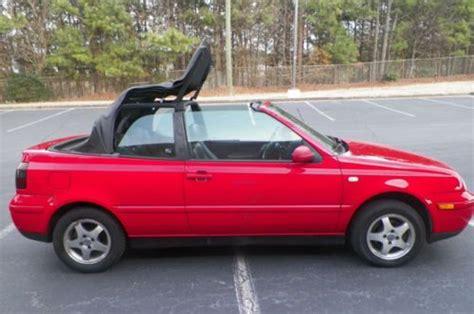 2000 volkswagen cabrio gls find used 2000 volkswagen cabrio convertible gls leather