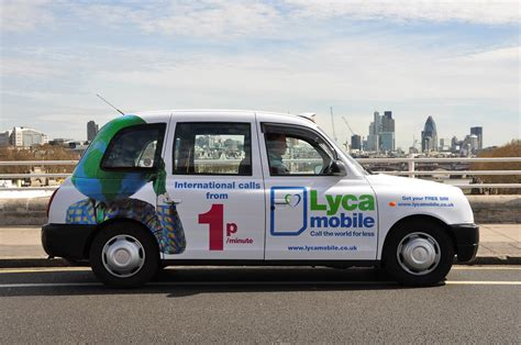 layka mobil lycamobile taxis taxi advertising