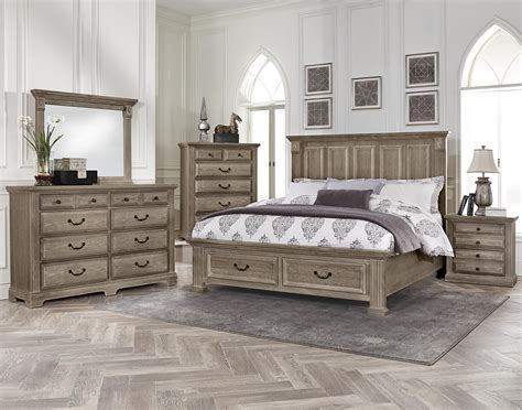 Bassett Bedroom Furniture | vaughan bassett woodlands king bedroom group belfort