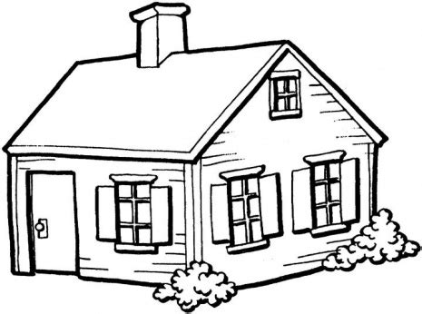 house coloring pages only coloring pages