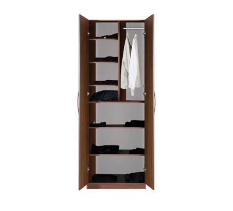 Narrow Closet Shelving by Designer Wardrobe Closet W 2 Doors Narrow And Wide