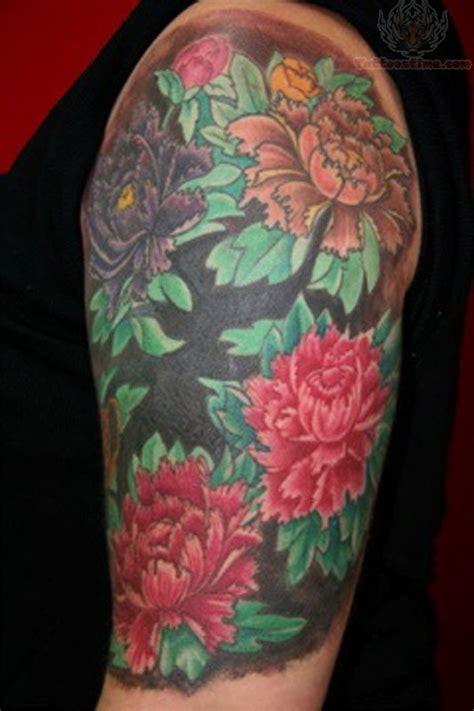 oriental tattoo half sleeve half sleeve oriental flower tattoo