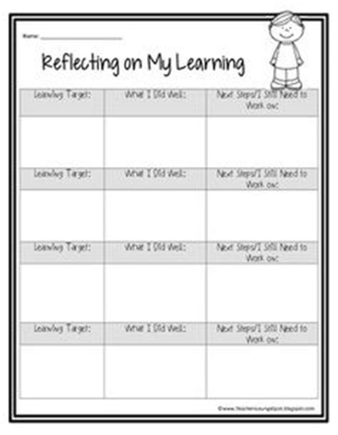 student learning log template 1000 ideas about learning objectives on