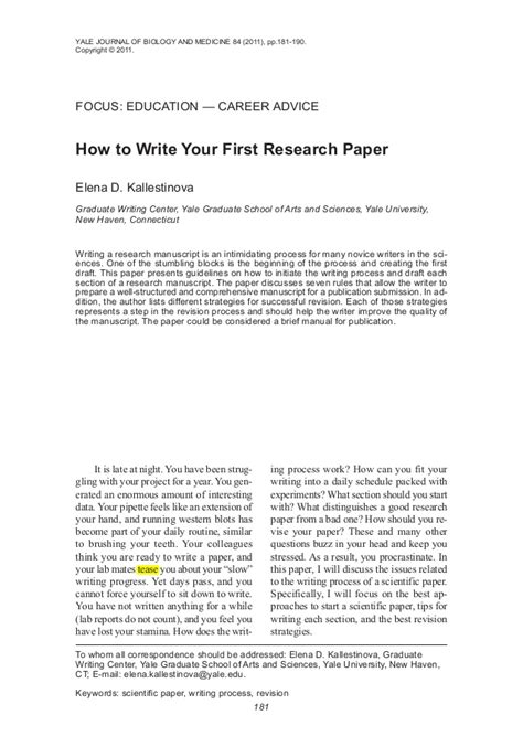 how to write your research paper how to write your research paper