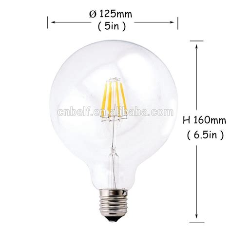special led filament g125 bulb g95 cheap dimmable led