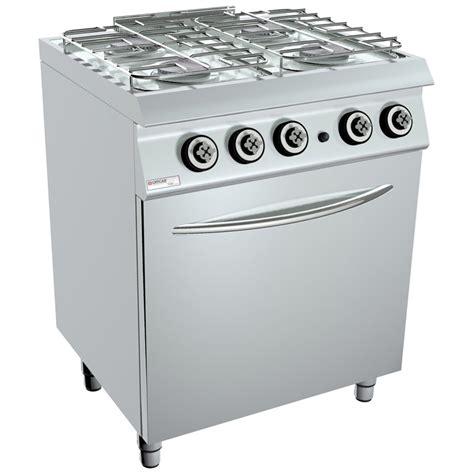 piano cottura professionale cucina 6 fuochi 2 forni elettrici con pesciera cucina