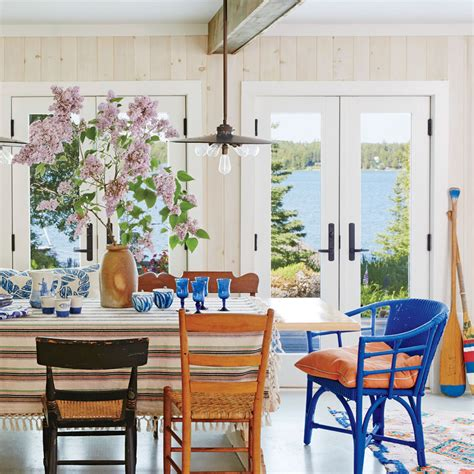 coastal dining room table house dining rooms coastal living