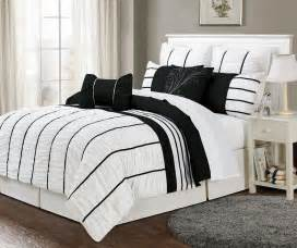 Comforter Sets Black And White Black And White Striped Bedding Bedding Sets